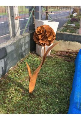 Fleur simple rouille